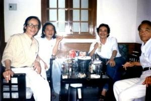 Trịnh Công Sơn, Bữu Ý, Nguyễn Trọng Tạo và Hoàng Phủ Ngọc Tường (ảnh Internet)