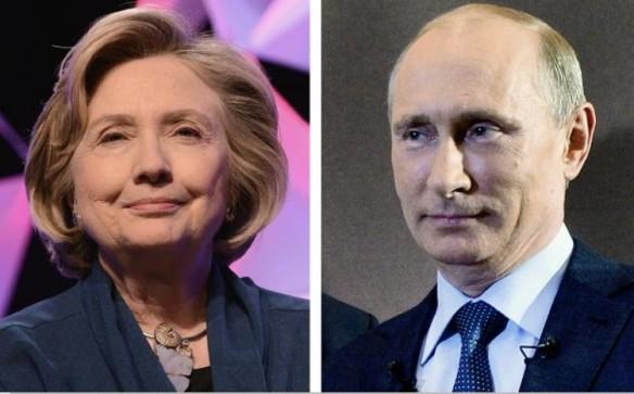 Hillary Clinton va Vladimir Putin